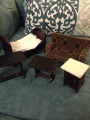 Antique Mennonite Hand Made Doll Furniture