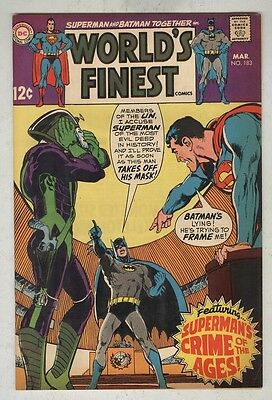 World's Finest #183 March 1969 F/VF Neal Adams Cover