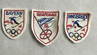 German Bavarian Olympic And Ski Patch Lot