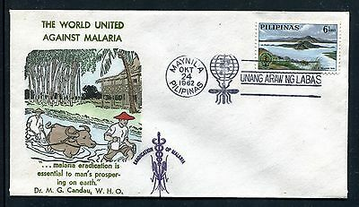 Philippines  Cover, FDC, World Fight Against Malaria 1962. x23199