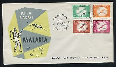 Indonesia Cover, FDC, World Fight Against Malaria 1960. x23257