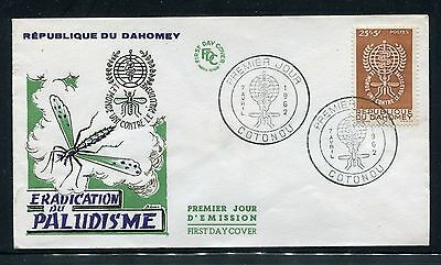 Dahomey Cover,  FDC, World Fight Against Malaria 1962 x23239