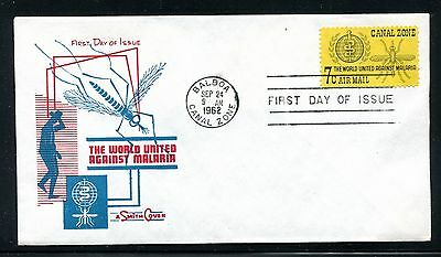 Canal Zone  Cover, FDC, World Fight Against Malaria 1962. x23215