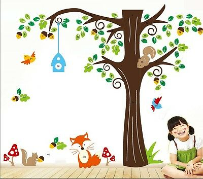 Animals Removable Vinyl Wall Decal Sticker Kid Room Art Mural Home Decor Forest