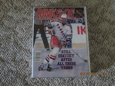 1997 rinkside magazine gretzky autographed cover
