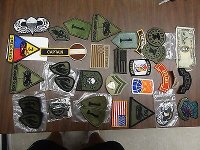 Military Patch Lot Set Of 35 + Different Sew On Army Marines Air Force Airborne