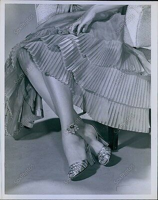 CA138 Original Photo WILLY OF HOLLYWOOD FLORAL STOCKINGS Designer Fashion Model