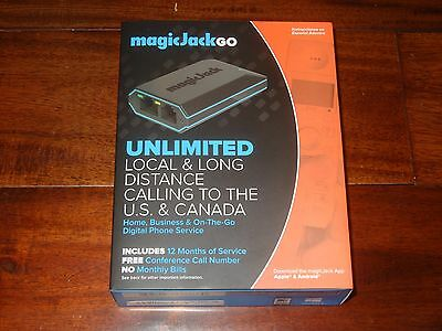 MagicJack Go K1103 Digital Phone Service + 12 Months FREE Service NEW SEALED