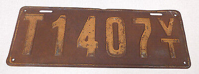 1917 Vermont temporary license plate