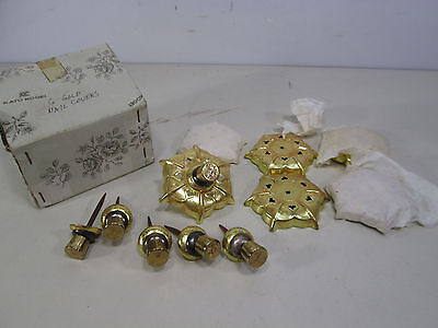 6 Kato Kogei Gold Colored Nail Head Covers for Decor Use NOS