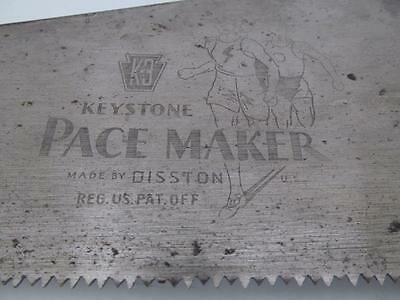 VINTAGE DISSTON HAND SAW K-3 KEYSTONE PACE MAKER #6 or #9