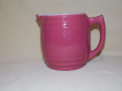 Vintage Uhl Stoneware Pottery Water Milk Drinks Quart Pitcher Dusty Rose EXC