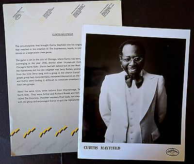 RARE Curtis Mayfield Press Kit for Short Eyes Soundtrack! Photo N83