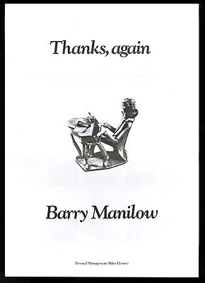 1976 Barry Manilow music trade vintage print ad