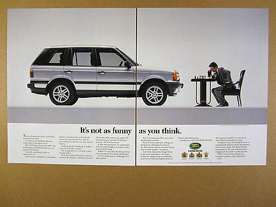1999 Land Rover Range Rover 4.6 HSE playing Chess photo vintage print Ad
