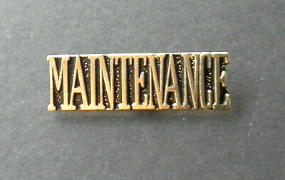 Maintenance Engineer Name Tab Script Lapel Pin Badge 1 Inch