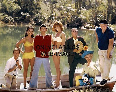 Gilligan's Island Cast Photo Iconic Tv Show Sexy Pinup Girls Mary Ginger On Boat