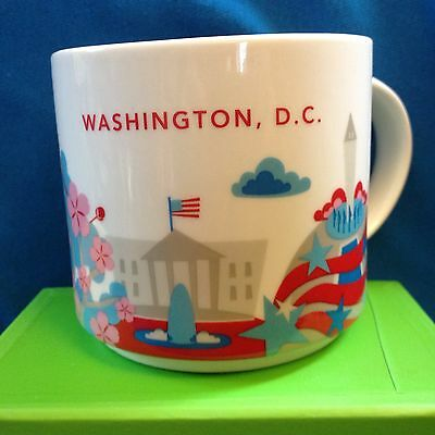 Starbucks Mug Washington DC City State You Are Here Cup YAH New