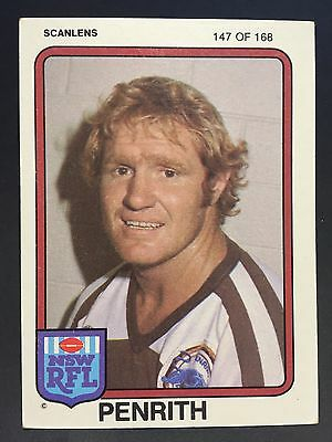 1981 Scanlens  ROSS CALE #147 PENRITH PANTHERS Excellent