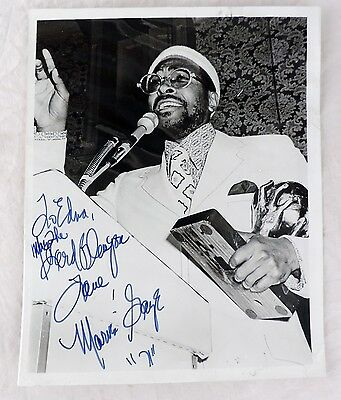 Marvin Gaye Personalized Hand Signed Autographed 8x10 Original Photo from 1971