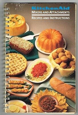 Kitchenaid Mixer Attachments Owners Manual Book Recipe Recipes 1990 Vintage