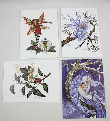 Amy Brown Faery Fairy Holiday Cards Set
