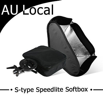 Photography Studio Bowens 60cm S-type Softbox Speedlight Diffuser Soft box Case