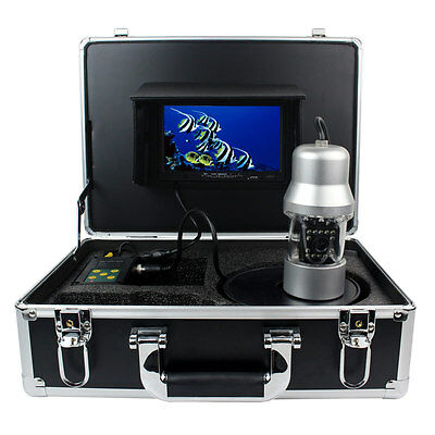 """Top 7"""" LCD Underwater Monitor System Fish Finder 50M GSY8200 700TVL 14*LED DC12V"""