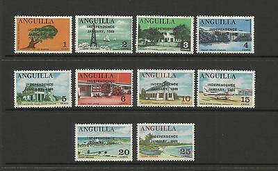 Anguilla ~ 1969 Independence  Definitives  (Part Set Mh)