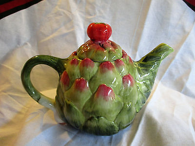 Vintage Retro Spiky Fruit Tomato Handle Novelty Teapot Made Japan ?