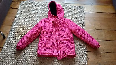Girls padded anorak coat size 11-12 years