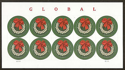 US 4936 Silver Bells Wreath global forever sheet MNH 2014