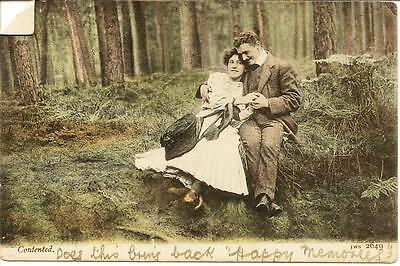 """Contented"" - Posted Postcard. Pre-1906"