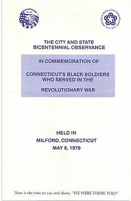 1976 Connecticut's Black Soldiers Who Served in the Revolutionary War OBSERVANCE