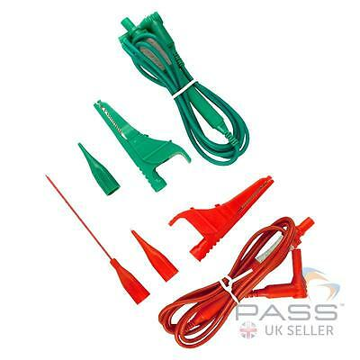 Megger Test Lead Set, 2-wire Red/Green 4mm Plugs (For Megger Loop Testers)