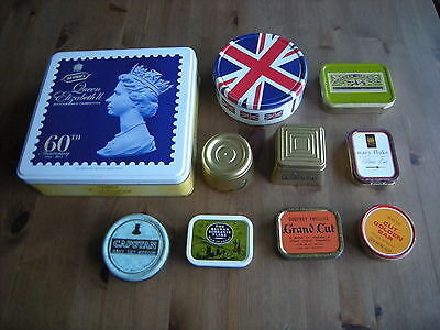 10 Assorted Advertising Tins