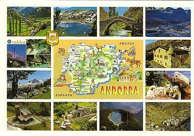 Andorra - Views - Unposted but used Postcard