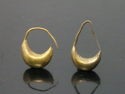 A Nice Pair Of Roman Gold Earrings (K593)