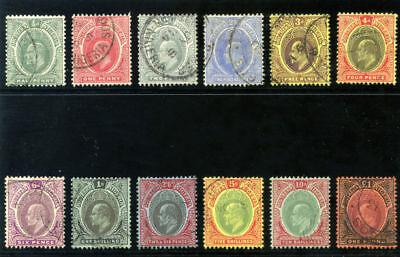 Southern Nigeria 1907 KEVII set complete very fine used. SG 33-44. Sc 32-43.