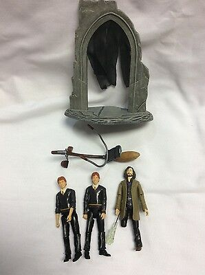 Sirius Black Weasley Twins Harry Potter Characters Seated Broomsticks