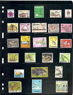 Sheet Of 25 Singapore   Fine Used   Stamps