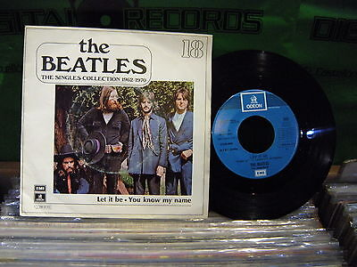 The Beatles ' Let It Be / You Know My Name '  7'' Spain  1J 006-04.353