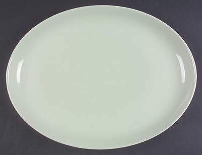 """Iroquois Russel Wright CASUAL LETTUCE GREEN 12 5/8"""" Oval Serving Platter 268418"""