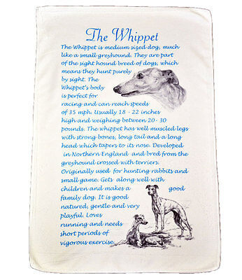 Whippet Dog Origins & Breed  Gift Packed Microfibre Tea Towel