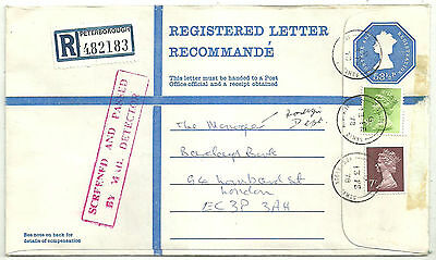 531/2P Qeii Envelope + 81/2P 7P Machins Screened And Passed By Mail Detector