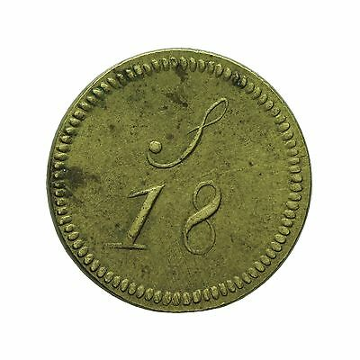 English Brass Coin Weight For Portuguese Half Joe S18
