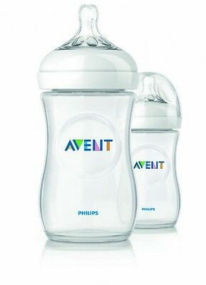 Philips Avent BPA Free Natural Polypropylene Bottle, 9 Ounce, 2 Count, New
