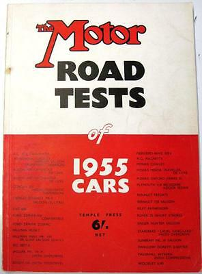 THE MOTOR Road Tests of 1955 Cars AUSTIN, FORD, MORRIS, RENAULT, etc