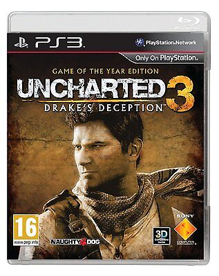 Uncharted 3: Game of the Year Edition for Sony Playstation 3 - BRAND NEW SEALED