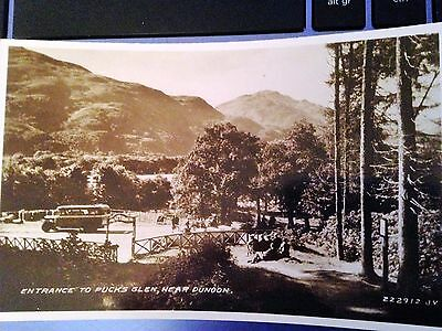 """Entrance to Pucks Glen near Dunoon   """"Valentines""""  222912  (1930s)  VERY CLEAN"""